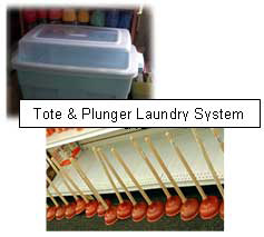 Tote and Plunger Laundry System